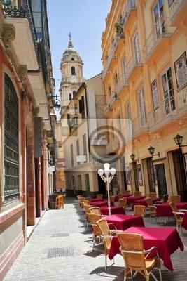 Ulica starego hiszpańskiego miasta.