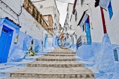 Ulice miasta Chefchaouen, Maroko