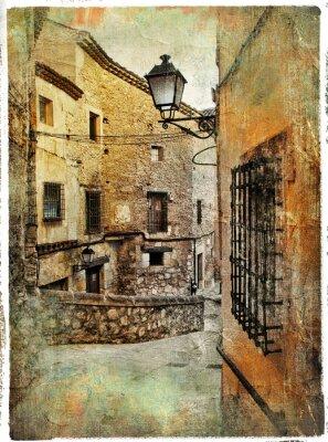 Ulice średniowiecznej Hiszpanii - artystyczny obraz