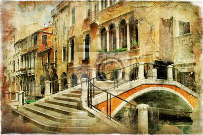 Ulice Wenecji. artystyczny obraz