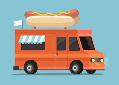 uliczna ciężarówka żywności