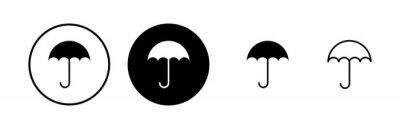 Obraz umbrella icons set. Umbrella vector icon