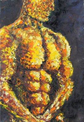 Obraz umięśniony mężczyzna