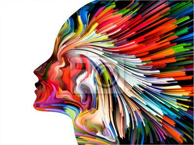 Obraz Umysł Malowanie tła