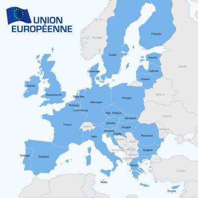 Obraz Union Européenne karty