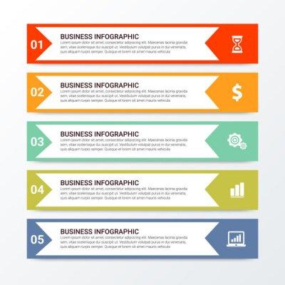 Unique Business Infographics options. Vector infographic element. - Vector