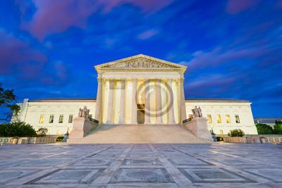Obraz United States Supreme Court Building in Washington DC, USA.