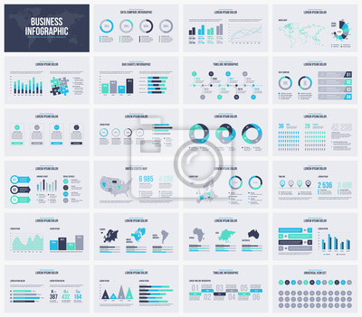 Obraz Uniwersalny prezentacji wektor szablon infographic.