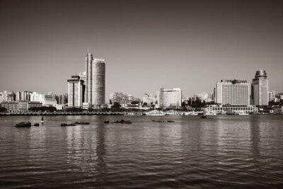 Obraz Urban buildings at waterfront in Xiamen, Fujian, China.