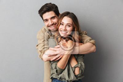 Obraz Urocza młoda para przytulanie
