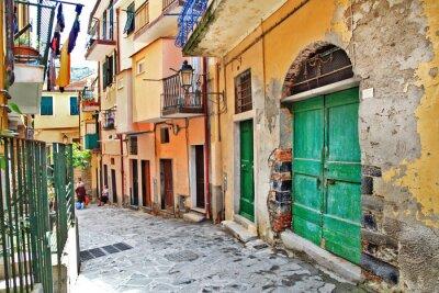 uroczą śródziemnomorską ulice, Cinque Terre, Włochy