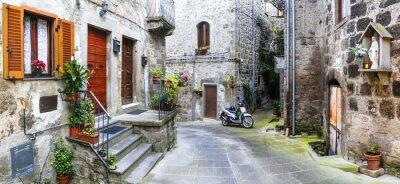 Obraz Urokliwe uliczki starych włoskich wiosek, Vitorchiano