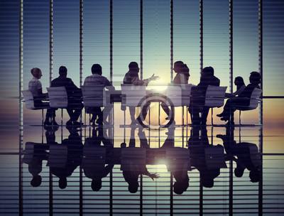 Obraz Urząd Spotkanie Biznes Ludzie Koncepcja Komunikacji Korporacyjnej