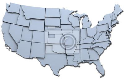 Obraz USA Ameryka państw narodowych mapę