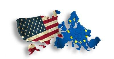 Obraz USA i Europy / UE - Symbol TTIP