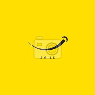 Obraz Uśmiech szablon wektor ilustracja projektu