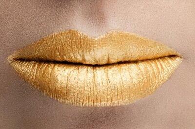 Obraz Usta złoto stylowe