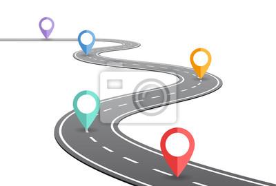 Obraz Uzwojenie koncepcja osi czasu drogi
