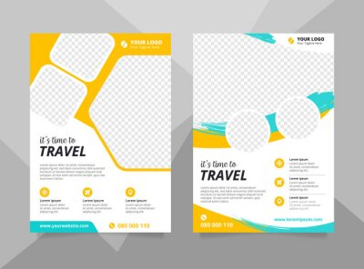 Obraz Vacation travel brochure flyer design template. Summer brochure template