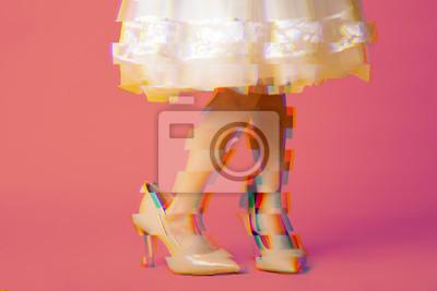 Obraz VAPORWAVE STYLE girl in oversized shoes