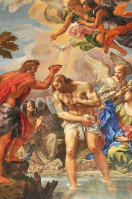 Obraz Vatican - 28 March, 2012: Renaissance mosaic depicting the biblical scene of Christ