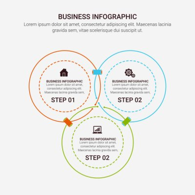 Vector abstract element infographics 3, 4, 5, 6 option. Design for business. finance template layout, brochure, workflow, information or presentation and other. Infographis timeline path.