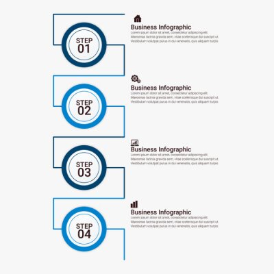 vector abstract  thin line infographic elements. Business infographics