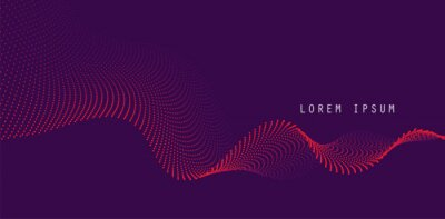 Obraz Vector background with color abstract wave dots