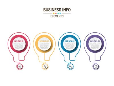 Vector Business infographics. Financial analysis data graphs and diagram, marketing statistic workflow modern business presentation elements vector investment progress icon.