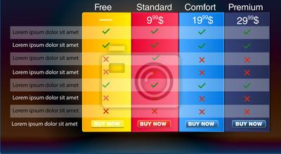 Vector Cena za komercyjne serwisy internetowe