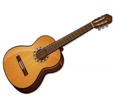 Obraz Vector classical guitar isolated design
