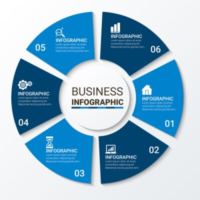 Vector elements for infographic. Template for diagram, graph, presentation, and chart. Business concept with options, parts, steps or processes. Abstract background.