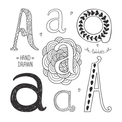 Obraz Vector hand drawn alphabet