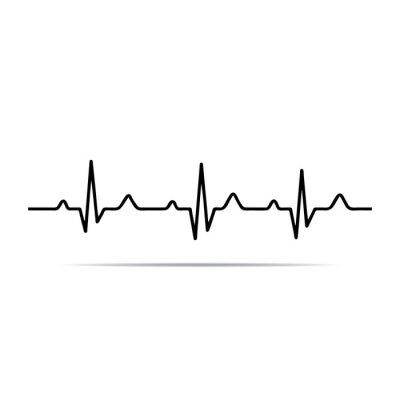 Obraz Vector Illustration heart rhythm ekg .
