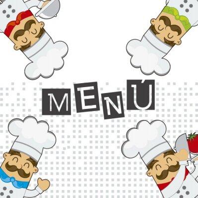 Obraz vector menu