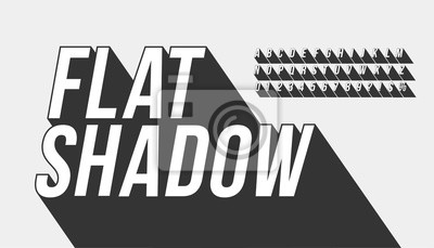 Obraz Vector of long shadow font and alphabet