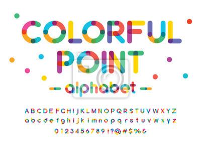 Obraz Vector of modern colorful alphabet design