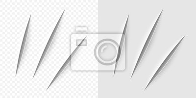 Obraz Vector realistic cut with a office knife