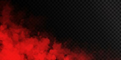 Obraz Vector realistic isolated Red Smoke effect for decoration and covering on the transparent background.
