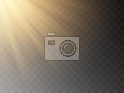 Obraz Vector transparent sunlight special lens flash light effect.front sun lens flash. Vector blur in the light of radiance.
