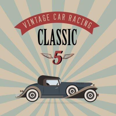 Obraz Vector vintage klasyczny samochód