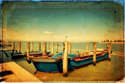 Obraz Venetian Lagoon - Stara karta - stary papier