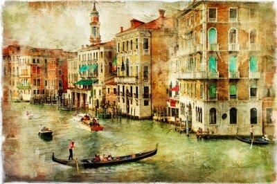Venice-kompozycji w stylu malarstwa