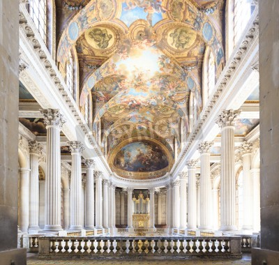 Obraz VERSAILLES FRANCE - JUNE 20 Interior Chateau of Versailles, Versailles, France on june 20, 2014. Palace Versailles was a Royal Chateau-most beautiful palace in France and word.