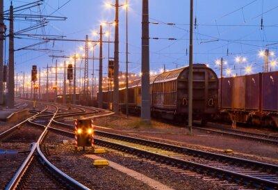 Obraz Verschiebebahnhof im Morgengrauen