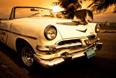 Obraz Vieille voiture américaine, Kuba