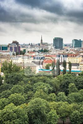 Obraz Vienna skyline as seen from Leopoldstadt in Austria.