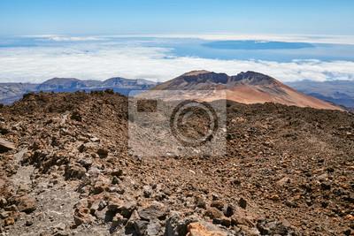 View from Mount Teide on Pico Vieje, Teide National Park, Tenerife, Spain.