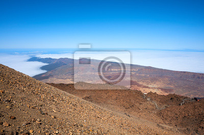 View from Mount Teide, Tenerife, Spain.