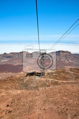 View from Teide Cableway car, Tenerife, Spain.